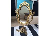 Urban outfitters gold ornate mirror