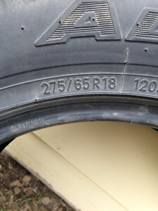 275/65R18 tires
