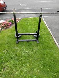 Marcy heavy duty adjustable squat stand