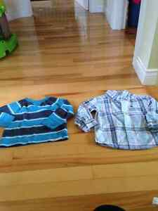 Sweater and button up shirt, excellent condition, Size 2