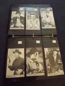 1950/S WESTERN TV STARS-COWBOYS POSTCARDS/1ST SERIES SET/18 OF18