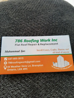 786 FLAT Roof repairs and replacement