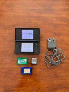 Nintendo DS Lite with 3 Pokemon Games