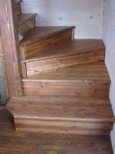 Escaliers et rampes en bois massif rustique (fini antiqué huilé) Lac-Saint-Jean Saguenay-Lac-Saint-Jean image 4
