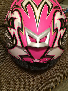 Womens Zox Ltd Ed. Pink Helmet with Pink Fox Goggles Brand New X Cambridge Kitchener Area image 3