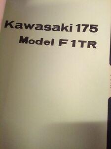 1966 Kawasaki Aircraft 175 F1 F1TR Parts Books Regina Regina Area image 6