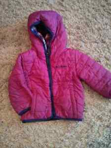 Girls Columbia Quilted Reversible Jacket