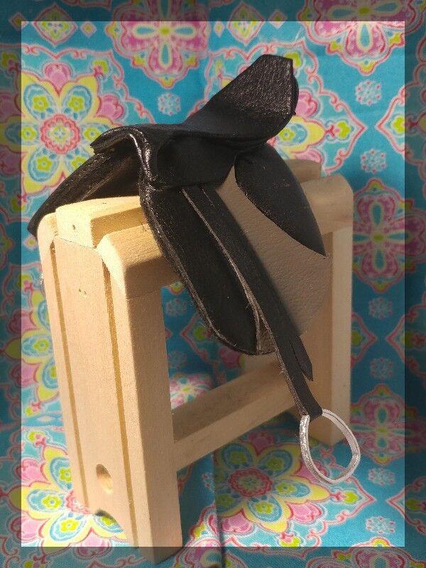 Traditional CM OOAK Breyer English Saddle Wintec Style Black and Grey