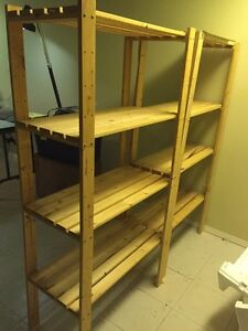 Pine Storage shelves