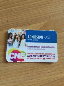 CNE Tickets 4 - $32.00
