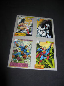*new price* SUPERMAN & WONDERWOMAN 1992 DC Comics PROMO SHEET