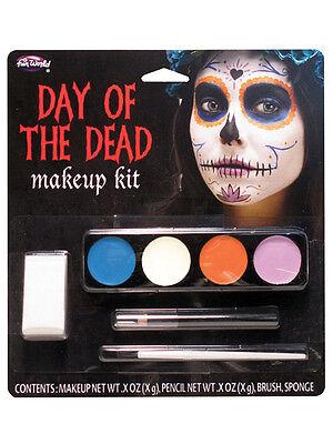 Day Of The Dead Ghost Girl Make Up Kit Facepaint Halloween Fancy Dress Accessory - Dead Girl Halloween Makeup