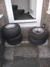 Road legal quad alloys and tyres