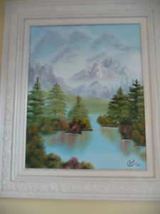 OIL PAINTING IN BEAUTIFUL WOODEN FRAME