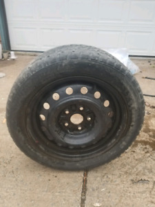 Snow tires on rims from Toyota Matrix