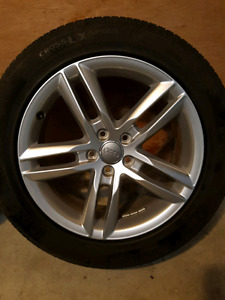 Audi OEM Q3 , A6 new rims and new Continental tires 235/50r18