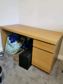 Ikea malm oak desk