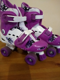 Kid's quad skates suit shoe size 1-4, used for sale  North Shields, Tyne and Wear