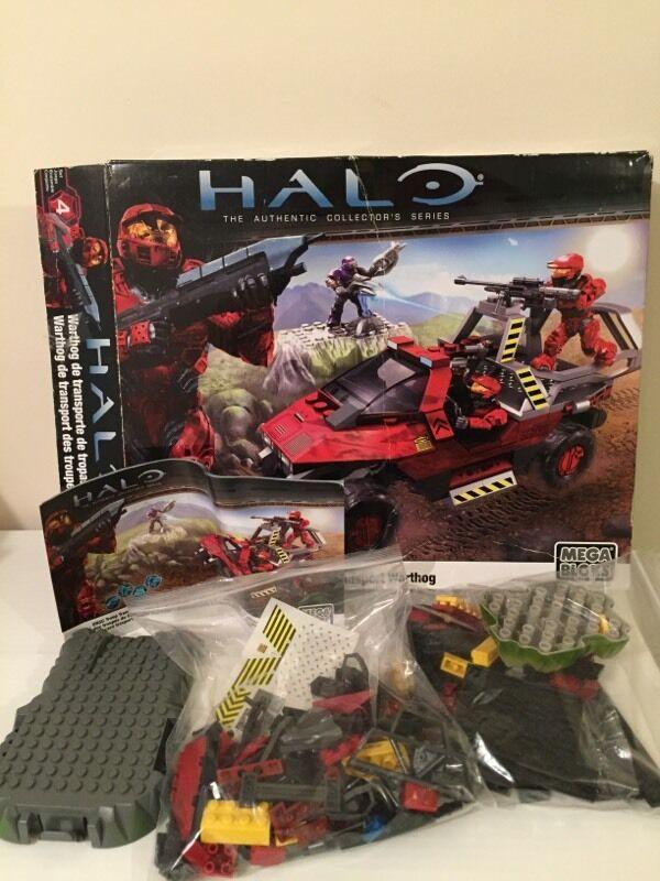 Halo Mega Bloks 96866 Red Warthog Figures Boxed And Instructions