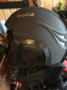 Kids ski helmet and gogges