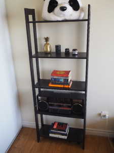 Black-Brown 5-Tier Bookcase