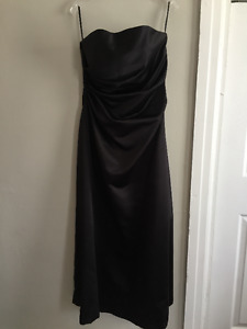 Strapless Evening Dress in Black - Good for Prom, wedding party