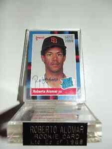 Roberto Alomar Autographed Rookie Card/ Montreal/Toronto Coins