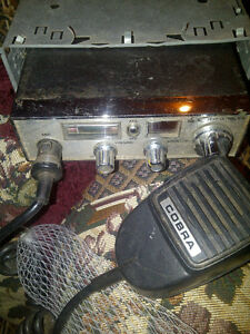 CB RADIOS COBRA BRAND, CONSOLE MOUNT AND HAND HELD