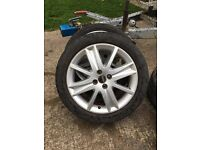 "17"" 4x100 Renault alloy wheels"