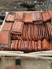 Reclaimed beauvais clay roof tile.