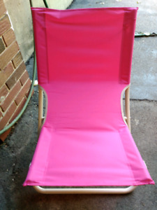 Pink Beach chair (used once)