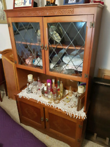 All wood hutch