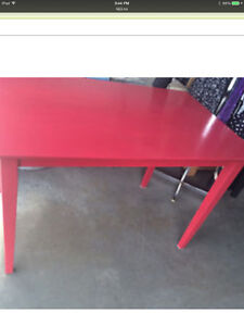 GREAT LIL RED ACCENT TABLE $50