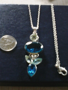 Sterling silver large pend and chain
