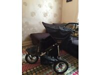 SOLD.... Super 'out and about' double buggy