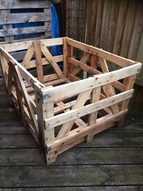 Wooden reclaimed industrial large crate