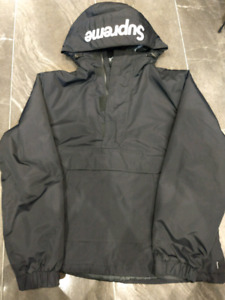 Supreme Hooded Logo Half Zip Pullover