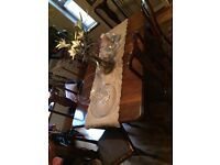 Antique table & 6 chairs