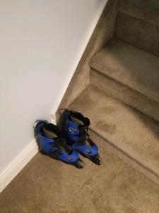 Blue rollerblades