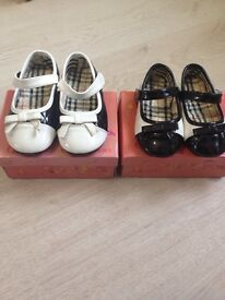 Girls quilted dolly shoes brand new