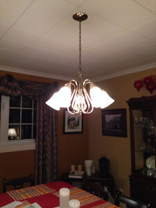 5 light Chandelier and 2 matching ceiling lights St. John's Newfoundland image 1