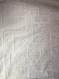 Pair Of Cream Curtains
