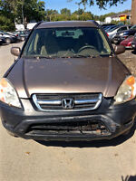 Honda CRV 2003 - Front DAMAGE, SOLD FOR PARTS (whole car only)