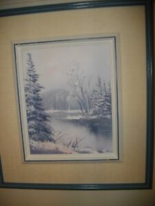 WINTER SCENE PAINTING  BY LEO MALLET