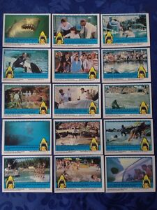 Jaws 3-D Vintage Topps Chewing Gum Trading Cards 1983