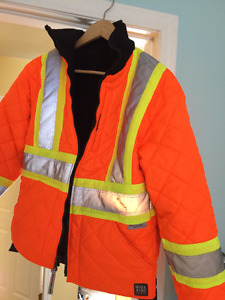 Women Work King Duck/Safety Reversible Jacket Small