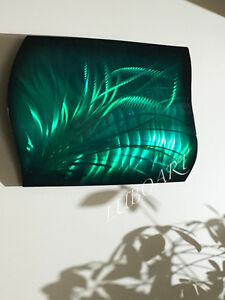 art painting modern sculpture unique smart gift green METAL wall