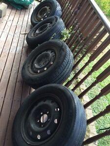 Dodge caravan tires on rims