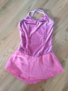 FIGURE SKATING DRESS - Pink Chiffon custom dress