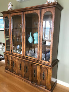 Solid Wooden China Cabinet